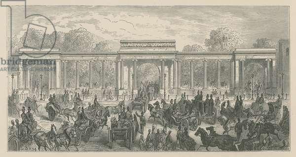 Triumphal Arch, Hyde Park Corner, London (engraving)
