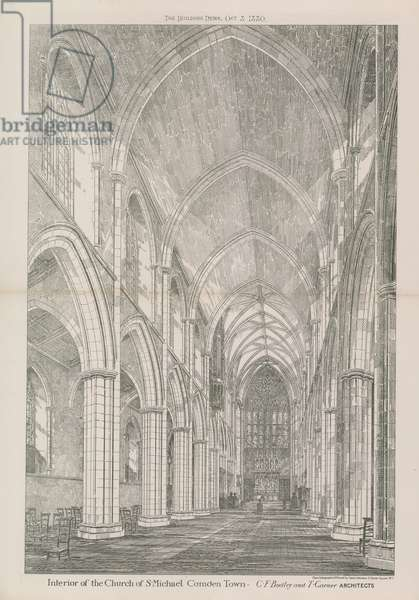 Interior of the Church of St Michael (engraving)