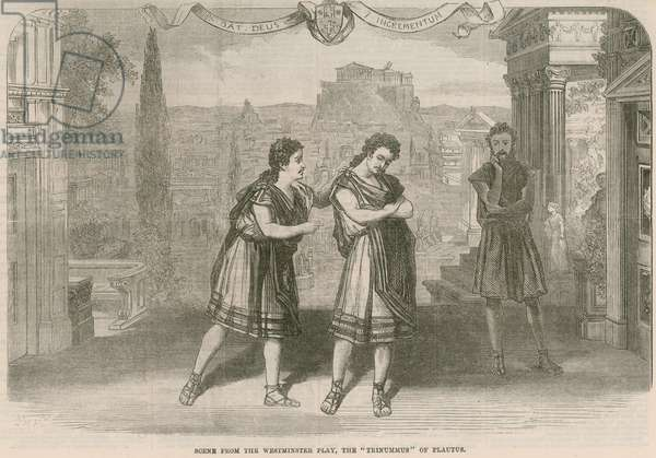 Scene from the Westminster Play (engraving)
