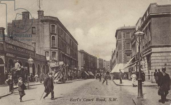Earl's Court Road, London (b/w photo)