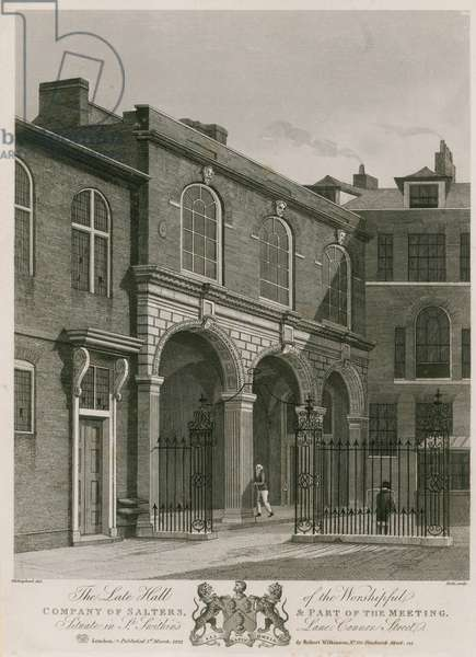 Salter's Hall; The late hall of the Worshipful Company of Salters (engraving)