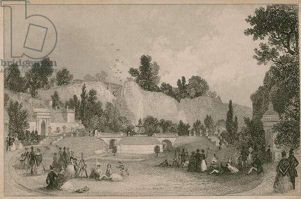 Rosherville Gardens, The Italian Garden, Gravesend (engraving)