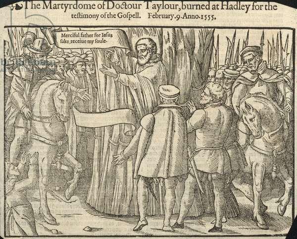 The martyrdom of Dorctor Taylor (engraving)