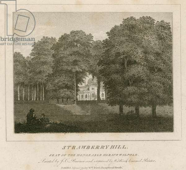 Strawberry Hill, seat of the honorable Horace Walpole (engraving)