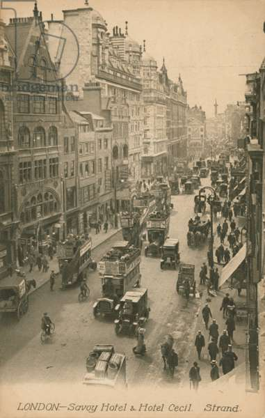 Savoy Hotel and Hotel Cecil, Strand, London (photo)