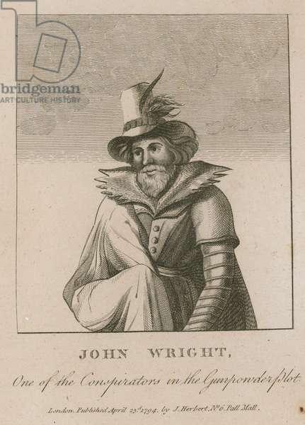John Wright, one of the conspiritors in the Gunpowder Plot (engraving)