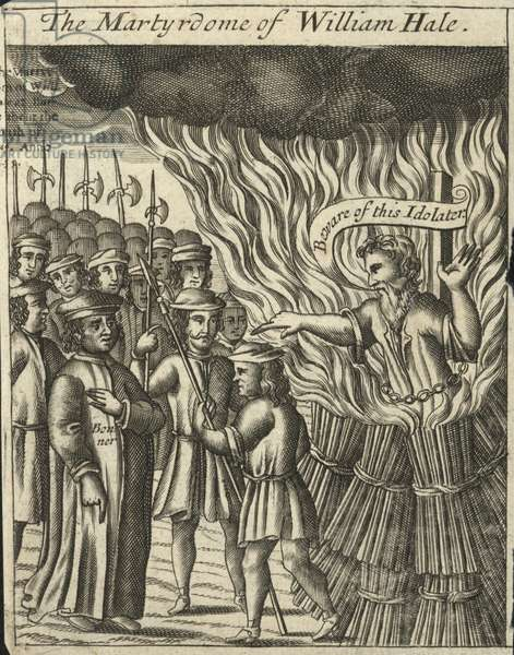 The martyrdom of William Hale (engraving)
