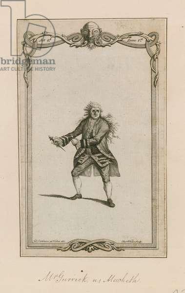 Mr Garrick as Macbeth (engraving)
