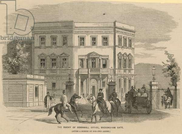 The Duchy of Cornwall Office, Buckingham Gate, London (engraving)