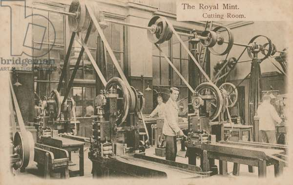 The cutting room at the Royal Mint, London (photo)