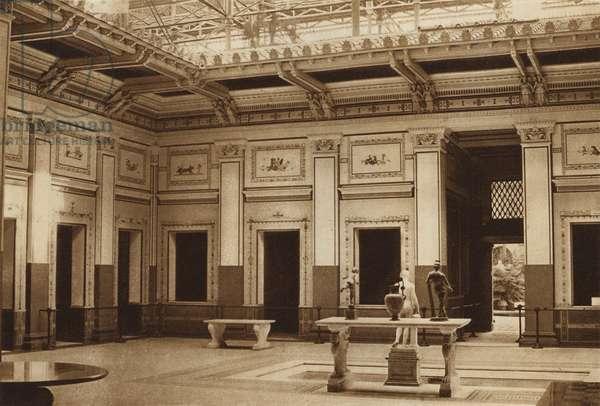 Pompeian Court (b/w photo)