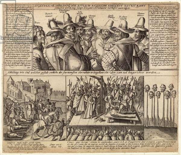 The Gunpowder Plot, 1604 (engraving)