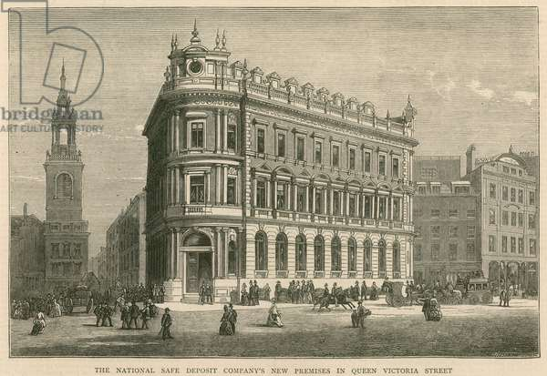 The National Safe Deposit Company's new premises in Queen Victoria Street, London (engraving)