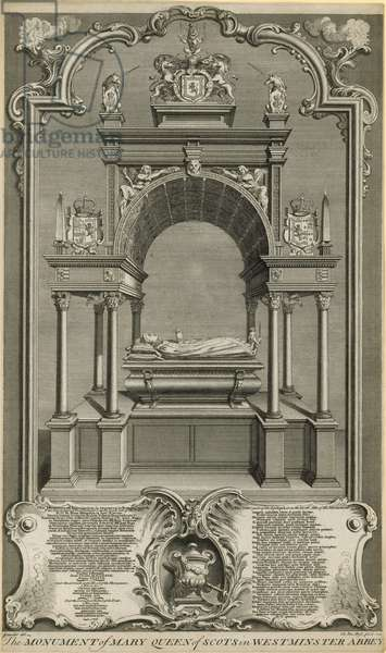 The monument of Mary Queen of Scots (engraving)