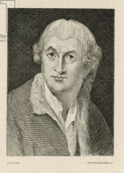 David Garrick, actor (engraving)