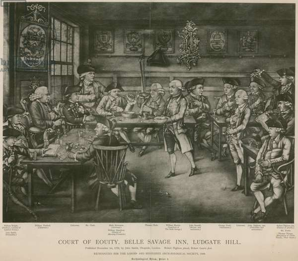 Court of Equity, Belle Savage Inn, Ludgate Hill, London (engraving)