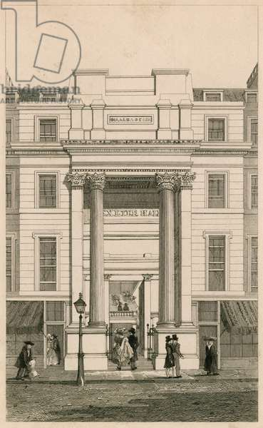 Exeter Hall, Strand, London; from Gentleman's Magazine; proof (engraving)