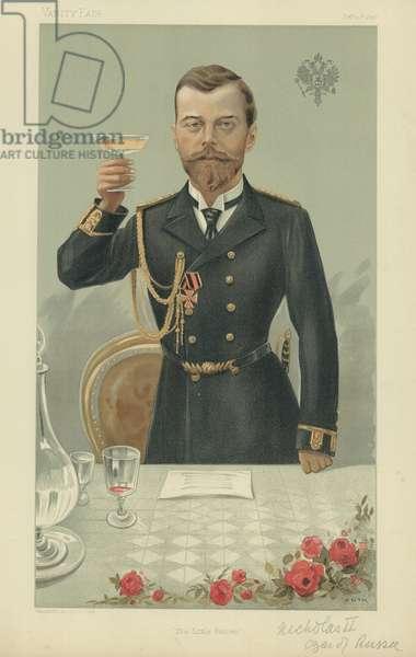 HIM The Czar Nicholas II KG (colour litho)