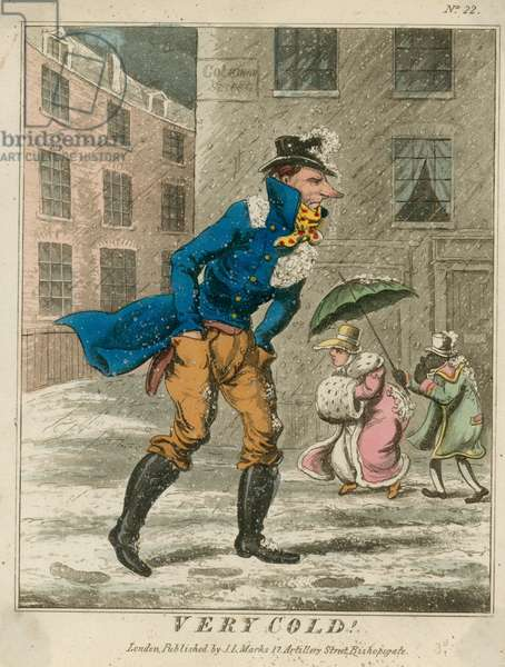 Very Cold (coloured engraving)