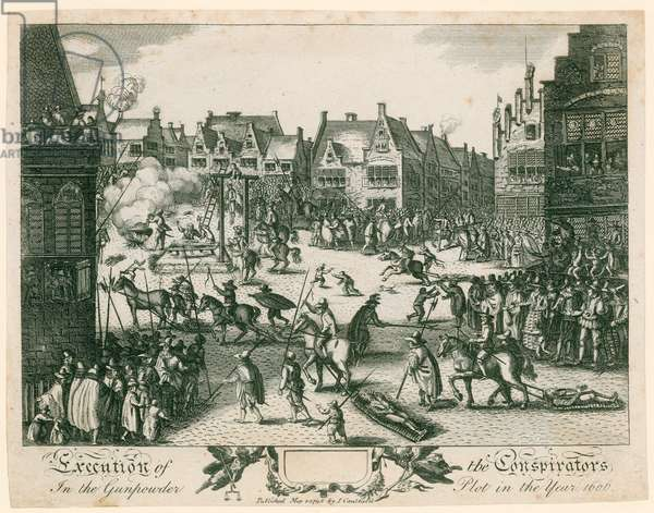 Execution of the conspirators in the Gunpowder Plot (engraving)