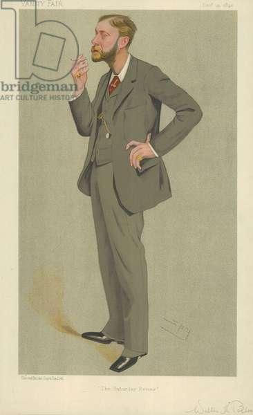 Mr Walter Herries Pollock (colour litho)