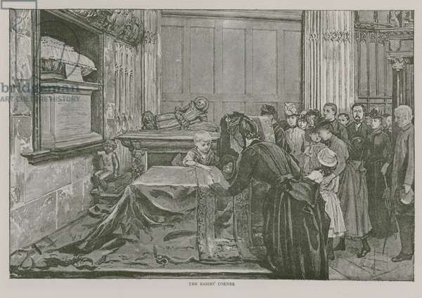 The Babies' Corner in Westminster Abbey (engraving)