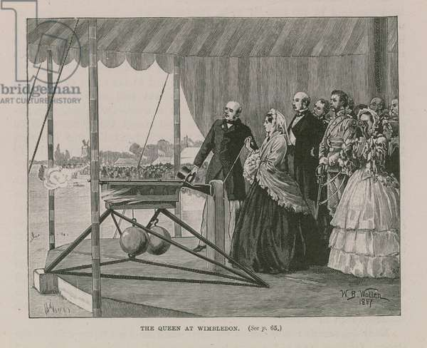 Queen Victoria at Wimbledon (engraving)