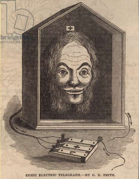 Comic Electric Telegraph by G E Smith (engraving)