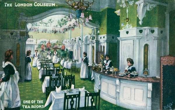 London Coliseum, One of the Tea Rooms (colour litho)