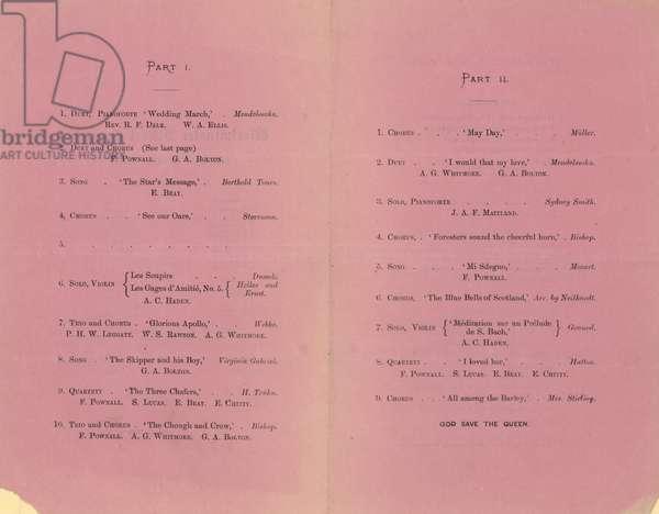 Westminster School Concert (engraving)