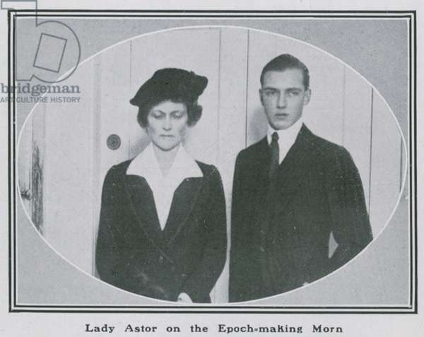 Lady Nancy Astor on the epoch-making morn (photo)