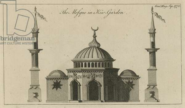 The Mosque in Kew Gardens, London (engraving)