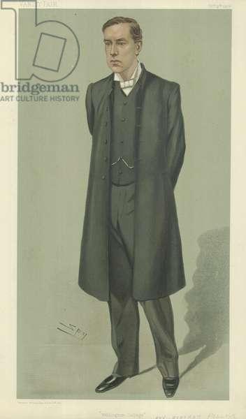 The Rev Bertram Pollock (colour litho)