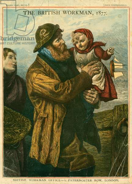Cover of The British Workman, 1877 (coloured engraving)