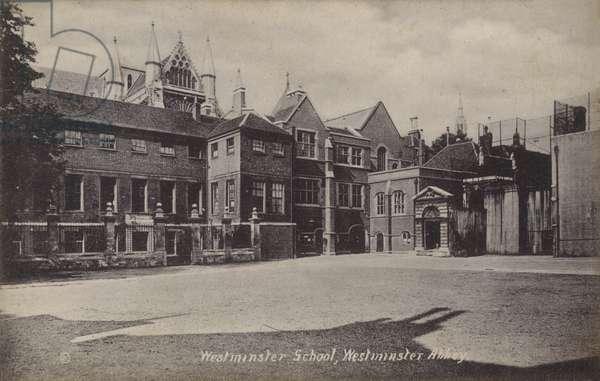 Westminster School, Westminster Abbey (b/w photo)