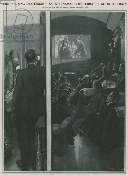 The Flying Scotsman as a Cinema (litho)