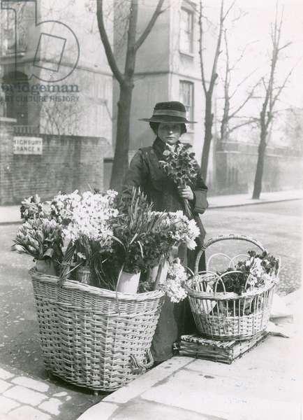 A woman flower seller (photo)
