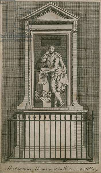 William Shakespeare monument (engraving)