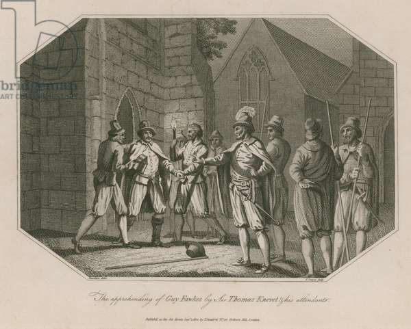 The apprehending of Guy Fawkes by Sir Thomas Knevet and his attendents (engraving)