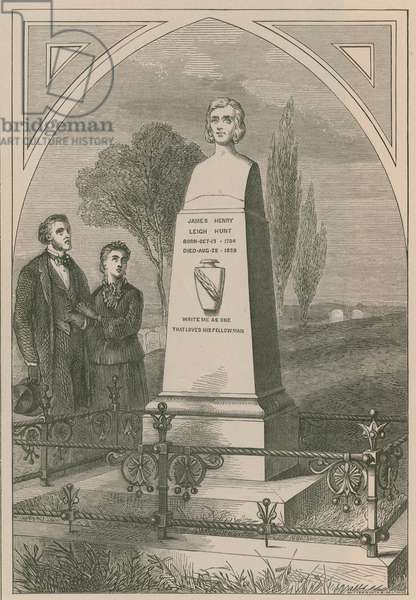 Monument to James Henry Leigh Hunt (engraving)
