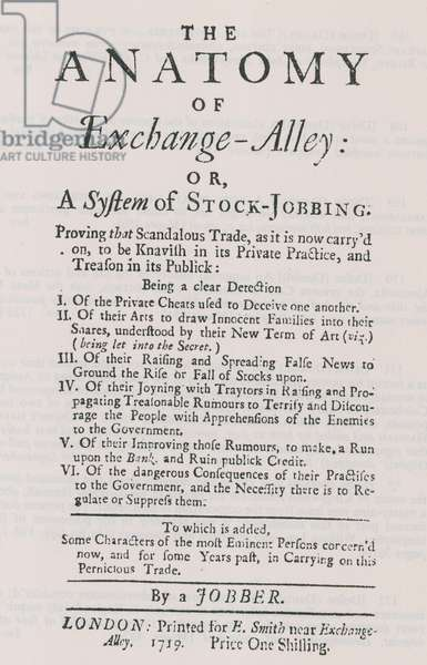 The anatomy of Exchange Alley (engraving)