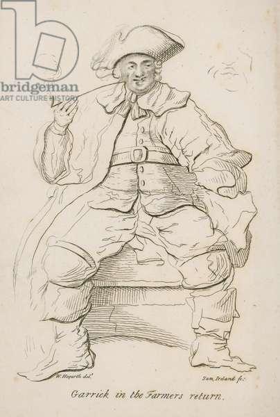 David Garrick in the Farmer's Return (engraving)