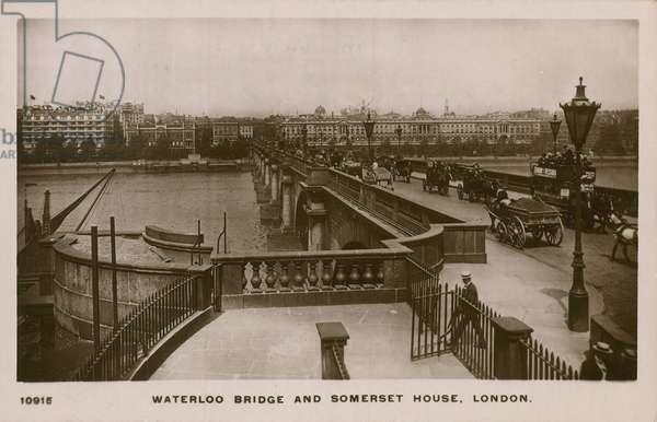 Waterloo Bridge and Somerset House, London (photo)