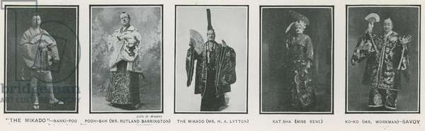 The Mikado; photographs of actors in a 1908 production at the Savoy Theatre, London (photo)
