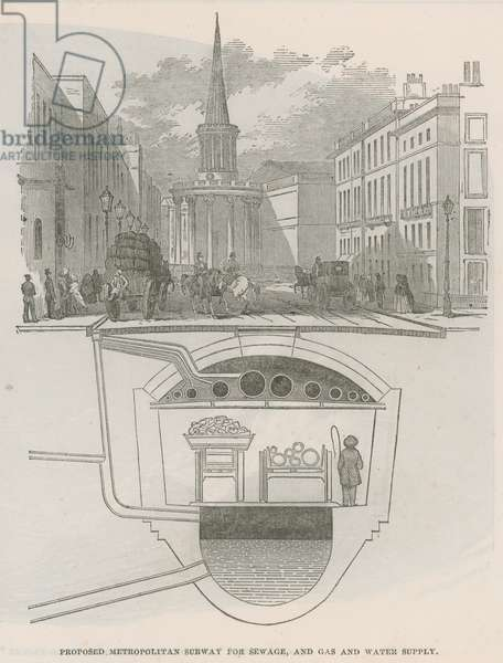 Proposed Metropolitan subway (engraving)