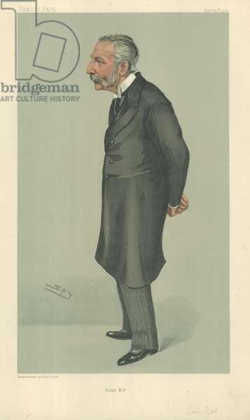 Sir Richard Jebb (colour litho)
