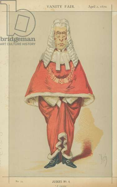 The Right Hon Sir Frederick Pollock (colour litho)