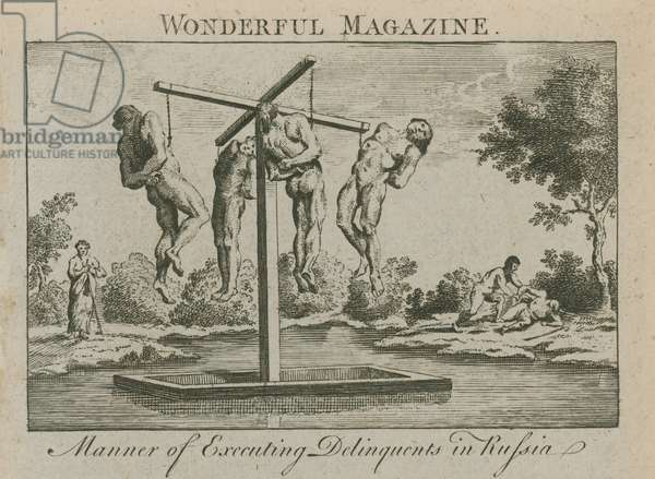 Manner of executing delinquents in Russia (engraving)