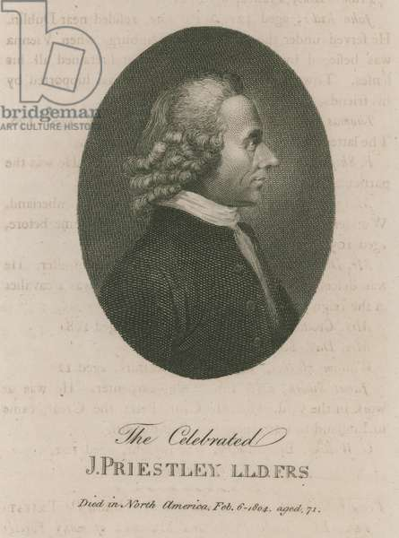 The celebrated Joseph Priestley (engraving)