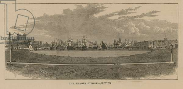 Section of the Thames Subway (engraving)